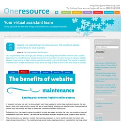The benefits of website maintenance for small business