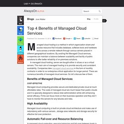 Top 4 Benefits of Managed Cloud Services