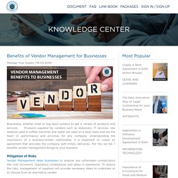 Benefits of Vendor Management for Businesses