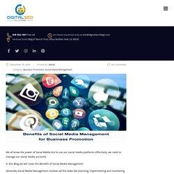 Benefits of Social Media Management for Business Promotion