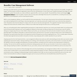 Benefits: Case Management Software