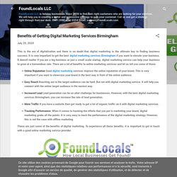 Benefits of Getting Digital Marketing Services Birmingham