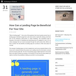 Benefits of Landing Page For Marketing Your Business Online