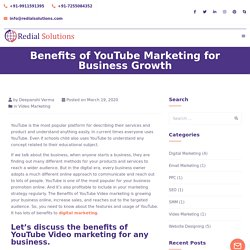 Benefits of YouTube Marketing for Business Growth