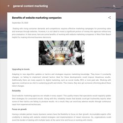 Benefits of website marketing companies
