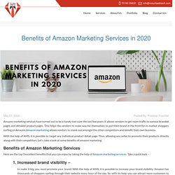 Benefits of Amazon Marketing Services in 2020 - Mount Web Tech