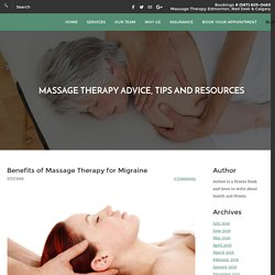 Massage Therapy for Migraines