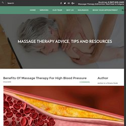 Massage Therapy For High Blood Pressure