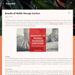 Benefits of Mobile Massage Services