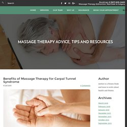 Massage Therapy for Carpal Tunnel Syndrome