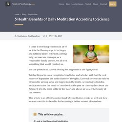 5 Health Benefits of Daily Meditation According to Science