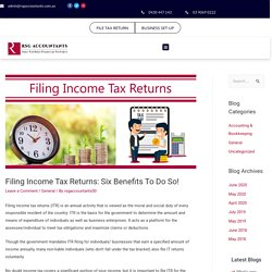6 Benefits Of Tax Return Services Melbourne - Registered Tax Agent