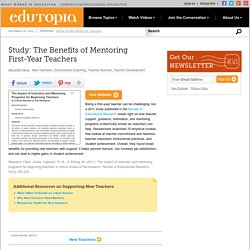 Study: The Benefits of Mentoring First-Year Teachers