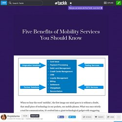 Five Benefits of Mobility Services You Should Know