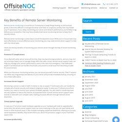 Key Benefits of Remote Server Monitoring