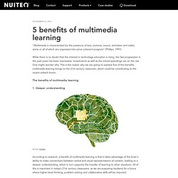 5 benefits of multimedia learning