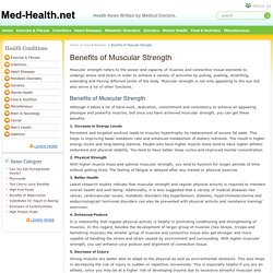 Benefits of Muscular Strength
