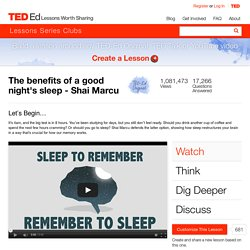 The benefits of a good night's sleep