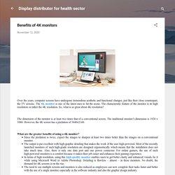 Benefits of 4K monitors