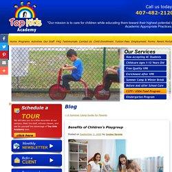 Benefits of Children's Playgroup