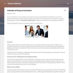 9 Benefits of Hiring an Accountant
