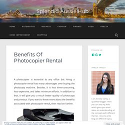 Benefits Of Photocopier Rental