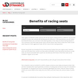 Benefits of racing seats