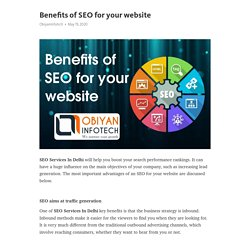 Benefits of SEO for your website