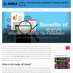 Benefits Of SEO To The Customers
