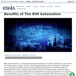 Benefits of The BIM Automation