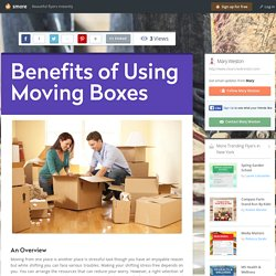 Benefits of Using Moving Boxes