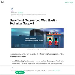 Benefits of Outsourced Web Hosting Technical Support
