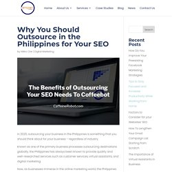 Benefits of Outsourcing Your SEO Needs