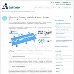 8 Benefits of Outsourcing Help Desk Support Services