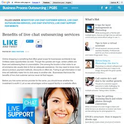 Benefits of live chat outsourcing services