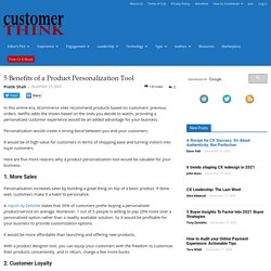 5 Benefits of a Product Personalization Tool