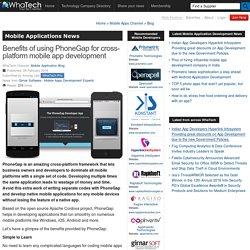 Benefits of using PhoneGap for cross-platform mobile app development