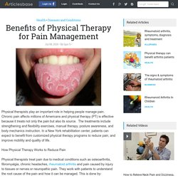 Benefits of Physical Therapy for Pain Management