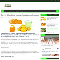 There are 10 benefits that you can get by playing orange lemon juice - HEALTH
