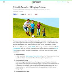 5 Health Benefits of Playing Outside - Care.com