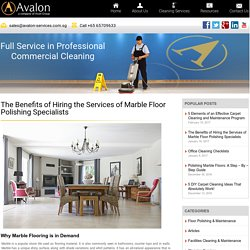 The Benefits of Hiring the Services of Marble Floor Polishing Specialists