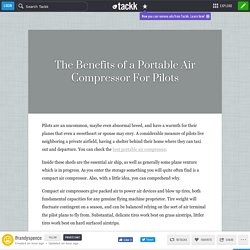 The Benefits of a Portable Air Compressor For Pilots