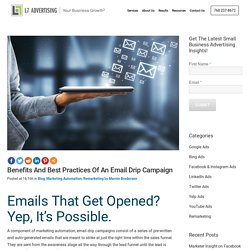 Benefits And Best Practices Of An Email Drip Campaign
