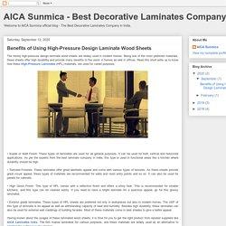 Benefits of Using High-Pressure Design Laminate Wood Sheets