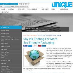 Benefits of Soy Ink Printing For Eco-Friendly Packaging