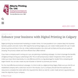 Find out benefits of digital printing services in Calgary