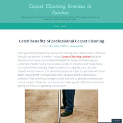Catch benefits of professional Carpet Cleaning