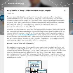 6 Key Benefits Of Hiring a Professional Web Design Company