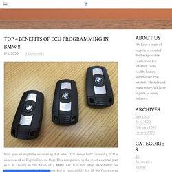 Top 4 Benefits of ECU Programming in BMW - Info Stream - Content Creators