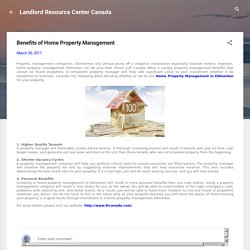 Benefits of Home Property Management